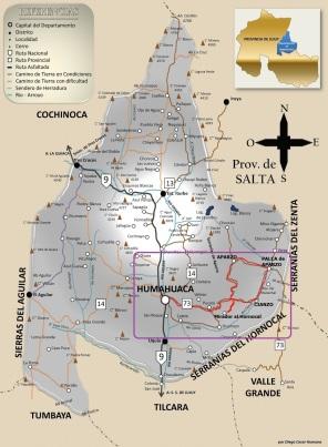 Humahuaca circuito Hornocal Cianzo Aparzo Palca de Aparzo-
